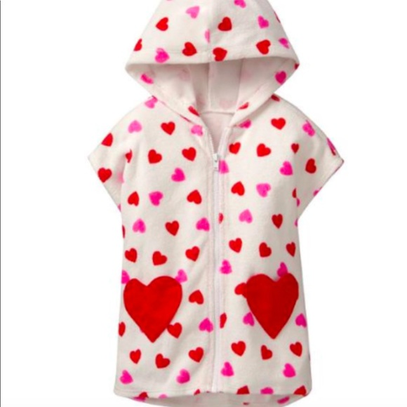 76fa35f991 Gymboree heart toweling zip up Size 2T